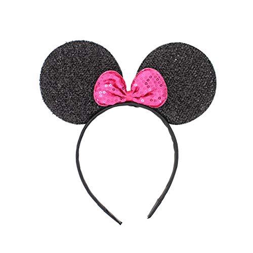 Maus Kostüm Lila - Micky Minnie Maus Ohren, Haarband, Haarband, Kostüm, Schwarz