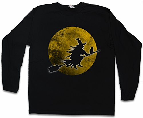 (Urban Backwoods Witch Moon Herren Langarm T-Shirt - Größen S - 2XL)
