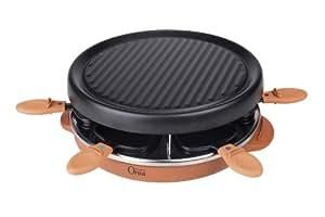 Orva 14229-56 Raclette / Gril 800 W 6 Poêlons Anti-Adhésifs