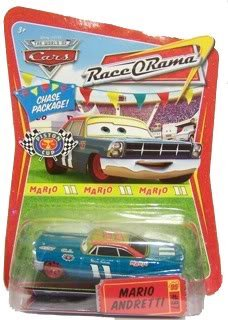 2008-2009 DISNEY PIXAR MOVIE CARS MARIO ANDRETTI RACE O RAMA CHASE PACKAGE CHASE CAR #97 by MATTEL