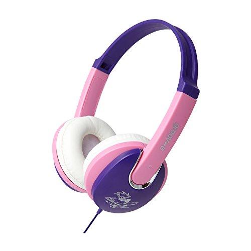 Groov-e kiddiez, Kinder-Kopfhörer mit Volume Limiter–Pink/Lila (Mädchen Kidz)
