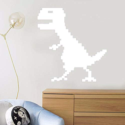Zaosan Wandtattoo Vinylkunst Abnehmbarer Raum Dekorieren Pixel Dinosaurier Kinderzimmer Dekor -