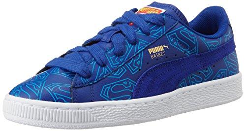 Puma Basket Superman, Sneakers Basses Mixte Enfant