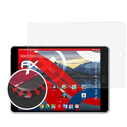 atFolix Schutzfolie passend für Asus ZenPad 3S 10 Z500M Folie, entspiegelnde & Flexible FX Bildschirmschutzfolie (2X)