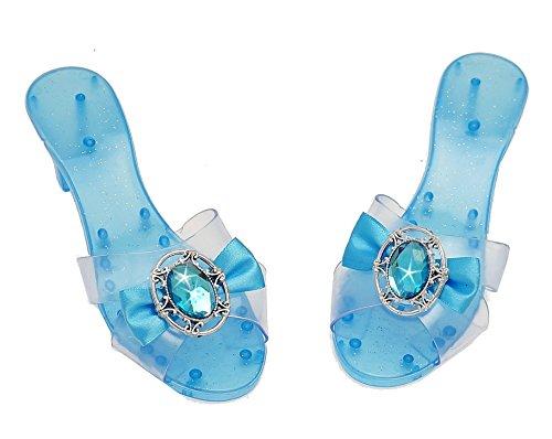 n Schuhe Prinzessinnen-Verkleidung Blau Pantoffel Kinder-Kostüm Absatz Schuhe Verkleidung High-Heels Kristall Diamant High-Heels Mädchen Cosplay Fasching Karneval (Prinzessin Schuhe)