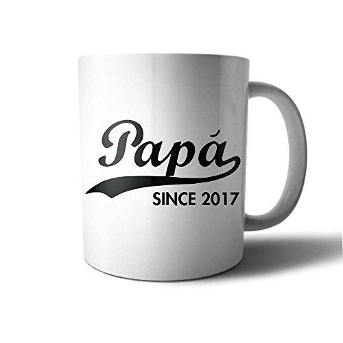 Tazza idea regalo festa del papa' personalizzato con data papa since