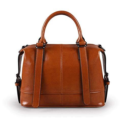 Kieuyhqk Damen Damen Leder Schulter Crossbody Top Griff Handtaschen Einkaufstasche mit abnehmbarem Gurt für Business Dating Alltag Damen Casual Handtasche Schulter-Handtasche