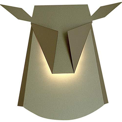 Nordic moderne wandleuchte kreative design hirschkopf wandleuchte schmiedeeisen wandleuchte schlafzimmer wohnzimmer TV hintergrund wand gang korridor licht LED lichtquelle (produkt mit lichtquelle)