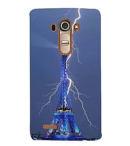 Vizagbeats Thunder On EiffelTower Back Case Cover for LG G4::LG G4 H815