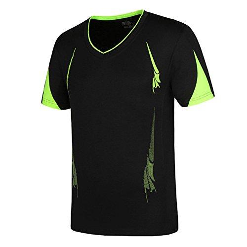 Juleya Herren Kurzarm Kompressionsshirt - Mode O-Ausschnitt Unterhemd Laufen Ausbildung Fitnessstudio Funktionswäsche Base Layer Oberteile Große Größen (Langarm-ausbildung Schwarzes)