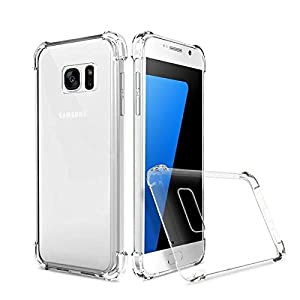 Plus Protective Soft Transparent Shockproof Hybrid Protection Back Case Cover With Packaging Kit For Samsung Galaxy S7