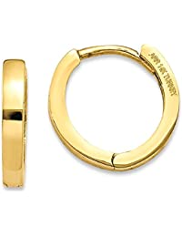 ICE CARATS 14k Yellow Gold Hinged Hoop Earrings Ear Hoops Set Fine Jewelry Gift Set For Women Heart