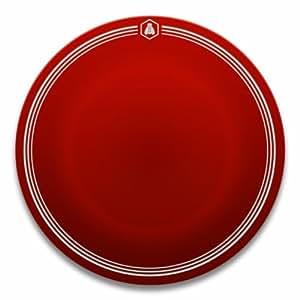 Laguiole 442136 Vaisselle en Grès Lot de 6 Assiettes Plates Rouge Diamètre: 26 cm
