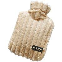 Preisvergleich für Aimire Wärmflasche/Kinderwärmflasche Thermoplast Wärmeflasche mit Streifen kuschelweichem Flauschbezug 1 Liter...