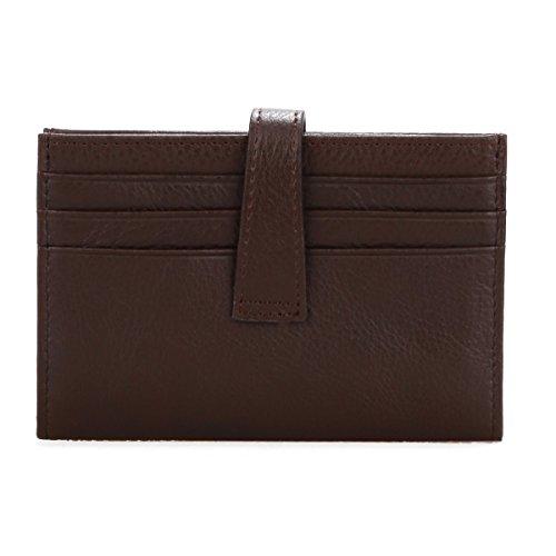 Herren Ledergeldbörse, SUSEN Brieftasche aus echtem Leder Geldbörse Geldbeutel Portemonnaie mit Abnehmbar ID-Kartenhalter (Schwarz) Braun