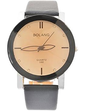Souarts Paar Armbanduhr Einfacher Stil Deko Uhr mit Batterie Charm Geschenk 24cm