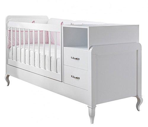 *Babyzimmer, Babymöbel, Kinderzimmermöbel, Kinderzimmer, Möbel, Kombination:Snowy mitwachsendes Babybett*