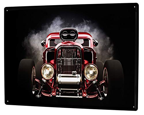 Metal Sign 12x16 Inches Poster Plaque Tin Plate Vintage Plaque Garage Hot Rod Gas Stations Vintage - Gas Station Sign Display