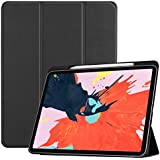 For IPad Pro 12.9 2018 Case,TITAP 1PC Slim Wake/Sleep Stand Folio Case Cover With Apple Pencil Holder For IPad Pro 12.9 Inch 2018 (Black)