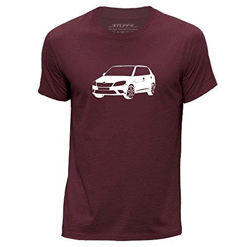 STUFF4 Uomo Girocollo T-Shirt/Plantilla Coche Arte / Fabia vRS TSI Borgogna