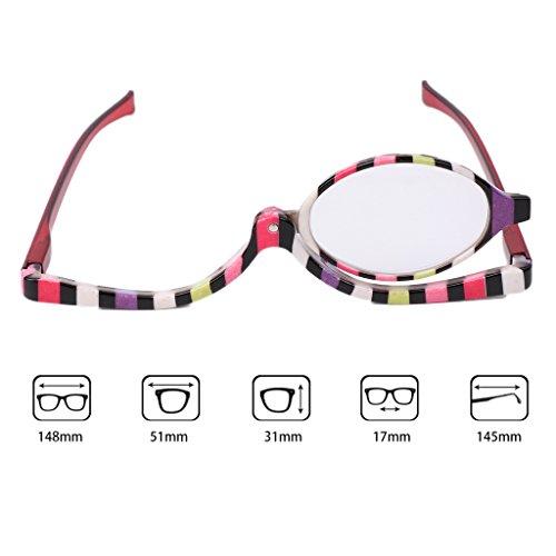 Preisvergleich Produktbild SLYlive Farbige Make-up-Brille,  Accessoires,  Modebrille +1.0~+4.0