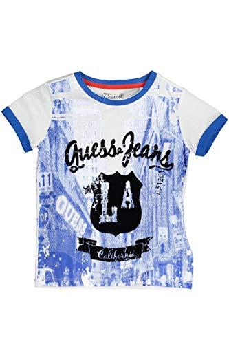 Guess Jeans N71I09K52O0 Tricot avec Les Manches Courtes Enfant Blanc A000 2A