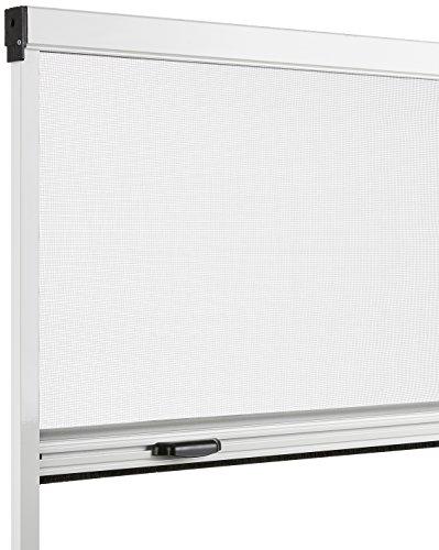 Schellenberg Insektenschutz Rollo Basic 130x160 cm weiß, Insektenschutzrollo, Aluminium und Fiberglas, 155 x 8 x 4 cm