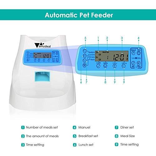 Zoom IMG-2 amzdeal distributore cibo automatico per