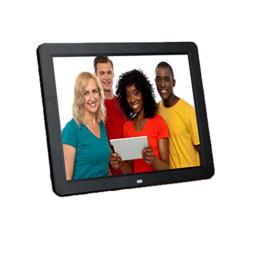 NINI Marco De Fotos Digital 12 Inch Widescreen HD Inteligente Android Edición Online Publicidad Maquina Electronic Album Blanco Y Negro,Black