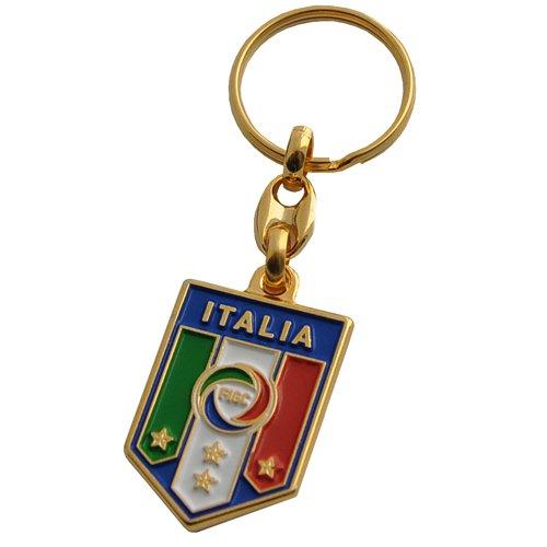 ITALIA FIGC PORTACHIAVI UFFICIALE NAZIONALE ITALIANA IN METALLO DORATO - FIGC ITALIA OFFICIAL METAL KEYCHAIN