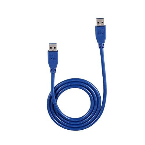 Mouchao 3Ft / 1M Superspeed USB 3.0 Typ A-Stecker A Typ A-Verlängerungskabel Kabel Blau - 3' Stecker