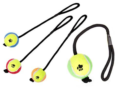Palla-tennis-con-corda-in-nylon-per-cani-P-087645-colore-a-scelta-giocattolo-per-cagnolini-animali-domestici-lancio-e-riporto-Marca-Alsino-mordere-tirare-giocare