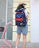 SEBAS Home Persönlichkeit Rucksäcke Stern Muster Rucksack Unisex Schultasche High-Capacity Casual Rucksack