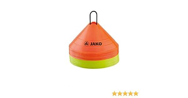 JUMBO 30 Stück Orange Gelb Fußball JAKO Markierungshütchen