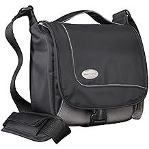 Mantona SportsBag Borsa per fotocamera (borsa a tracolla compatta sportiva) per fotocamera Bridge e Micro SLR