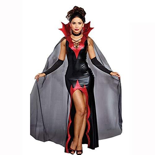Fashion-Cos1 Vampir Kostüm Mädchen Hexenkleid Erwachsene Gothic Dark Queen Cosplay Cobweb Spinne Kostüm Für Karneval Halloween Kostüm