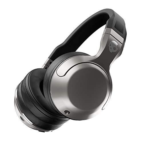 Skullcandy Hesh 2.0 Over-Ear Wireless Bluetooth Kopfhörer mit Mikrofon und Lautstärkeregelung - Silber/Schwarz/Chrom Bluetooth-kopfhörer Jack