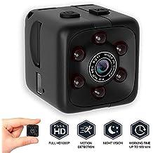 bqmqolove Mini cámara de Seguridad Cámara de visión Nocturna 1080P Cámara portátil con Cubo HD Cámara