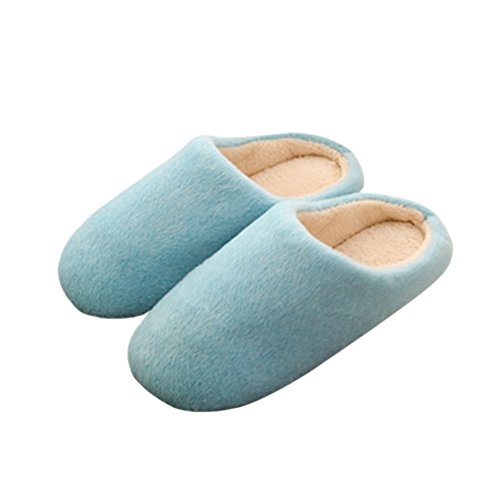 Meijunter Anti-Slip Baumwolle slippers Weich Indoor Hausschuhe Flats Home Schuhe Blue