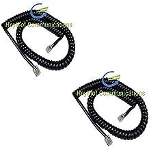 Panasonic KX-T7630Cable de auricular rizado en color negro vendido y enviado por HeyMot comunicaciones Bundle X2