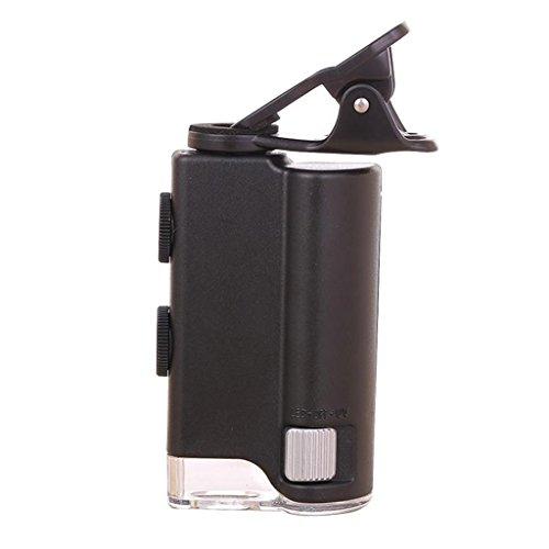 ZHANGLIXIANG FDJ 60X-100X mit LED Lupe Zoom Mikroskop, für Handy UV Währung Detectting Biologie Schmuck Appraisal Mikroskop -