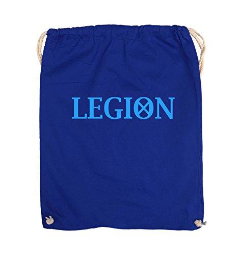 Comedy Bags - LEGION - LOGO2 - Turnbeutel - 37x46cm - Farbe: Schwarz / Silber Royalblau / Blau