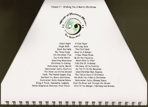World of Harmony Music, Volume 4 ~ Wishing You a Merry Christmas. Christmas Music Book for Zither, Yerbonitsa, Lap Harp, Plucked Psaltery, Cymbala. by World of Harmony Music