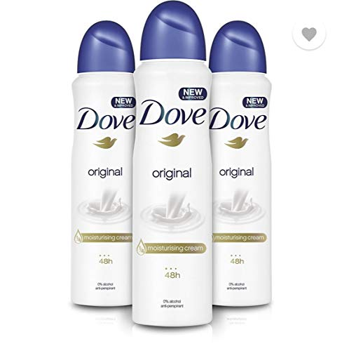 Dove Spray Moisturising Cream Deodorant, Original, 150ml (Pack of 3)