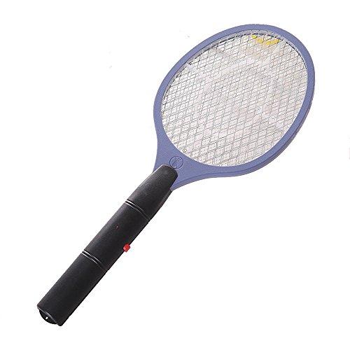 Raqueta eléctrica caza mosquitos STRIR matamoscas eléctrico y otros insectos voladores, raqueta exterminadora insectos, raqueta anti-insectos (Púrpura)