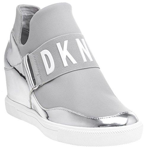 DKNY Cosmos Sneaker Wedge Femme Baskets Mode Metallic