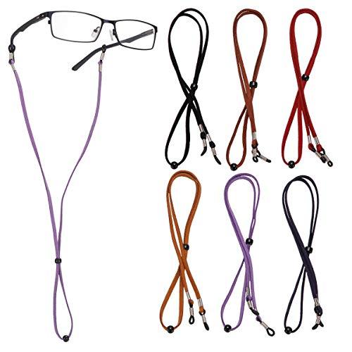 LAOYE Brillenband Brillenkette Damen Brillenkordel Herren Brillenschnur für Sonnenbrillen, Lesebrillen, Schutzbrille- Set aus 6 Stück Brillenbänder