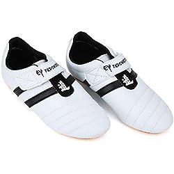 Zapatillas para Artes Marciales, Artes Marciales Zapatilla de Deporte de Boxeo Karate Kung Fu Zapatos de Tai Chi Zapatillas de Rayas Negras Zapatos Ligeros para Hombres Mujeres Niños Adultos(34)