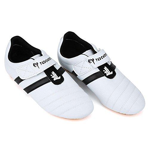 Dioche Taekwondo Schuhe, Atmungsaktiv Kampfsport Turnschuhe, Sport Boxen Kung Fu Taichi Leichte Schuhe für Erwachsene und Kinder(41)