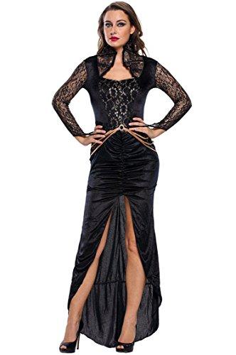 Shangrui Weibchen Cosplay Kostüm Serie Kleid geöffnete Gabel Übel Königin (Quinn Billig Kostüme Harley)